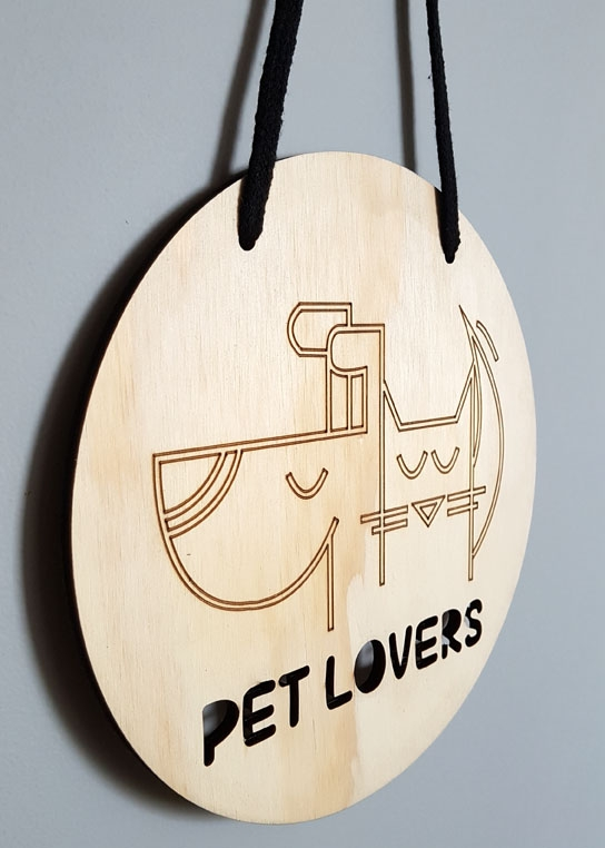 Cartel Pet Lovers / Talismanario
