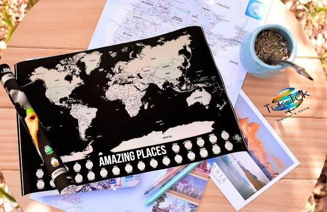 Mapa del Mundo para raspar / Tuk Tuk