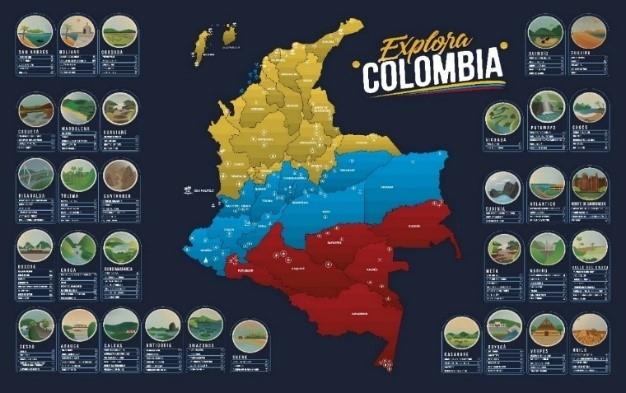 Mapa Colombia para raspar / Tuk Tuk