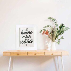 Cuadro Decorativo Estar en casa / Gama Digital