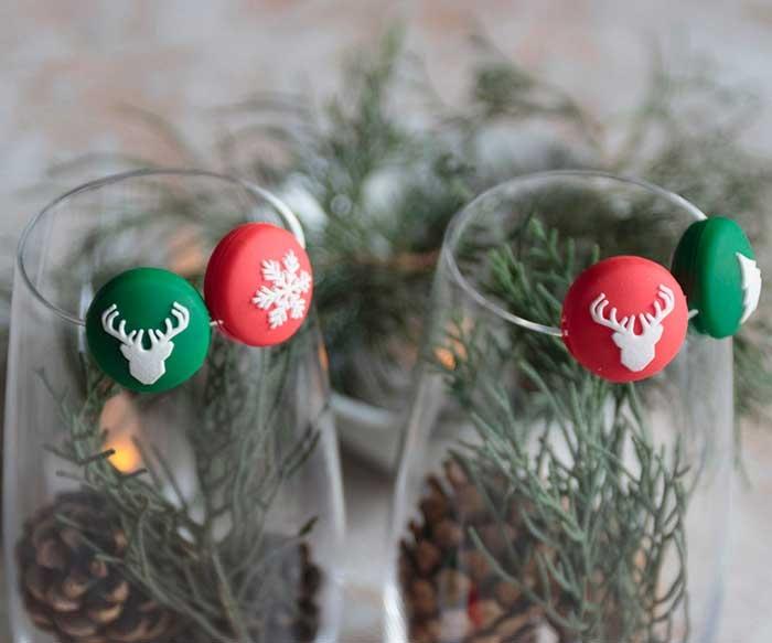 Identificador de bebidas Silueta Navidad / Mulikka