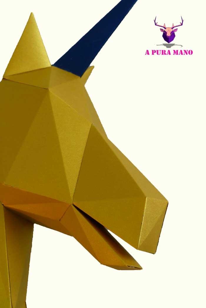 Cabeza de Unicornio / A Pura Mano (*Elige Color)