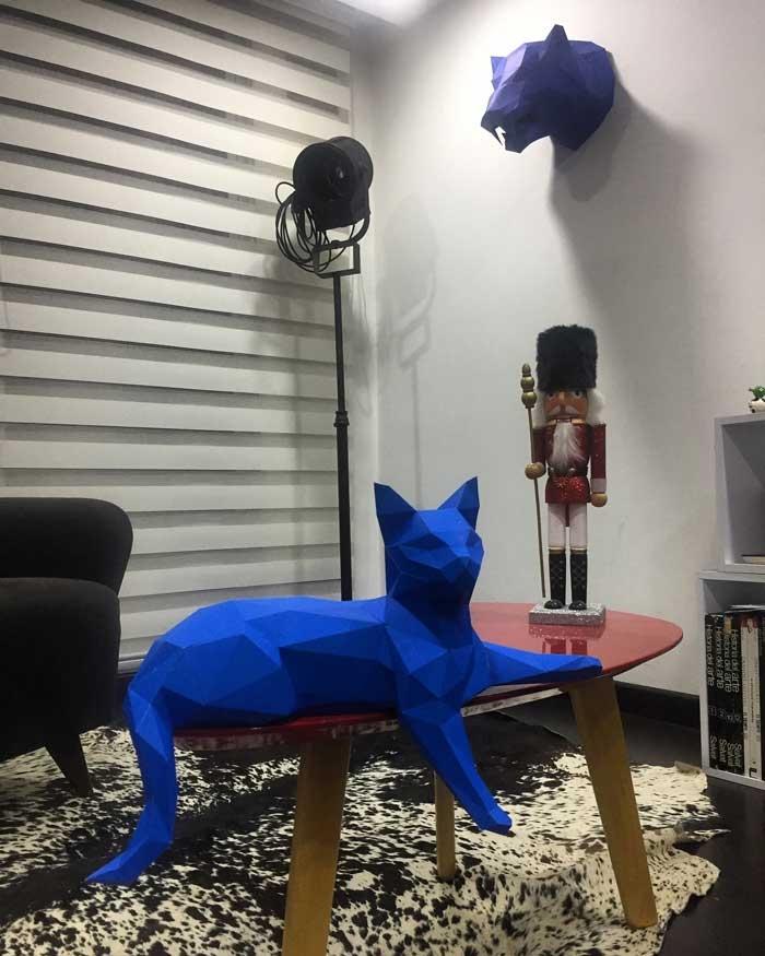 Gato Acostado / A Pura Mano (*Elige Color)