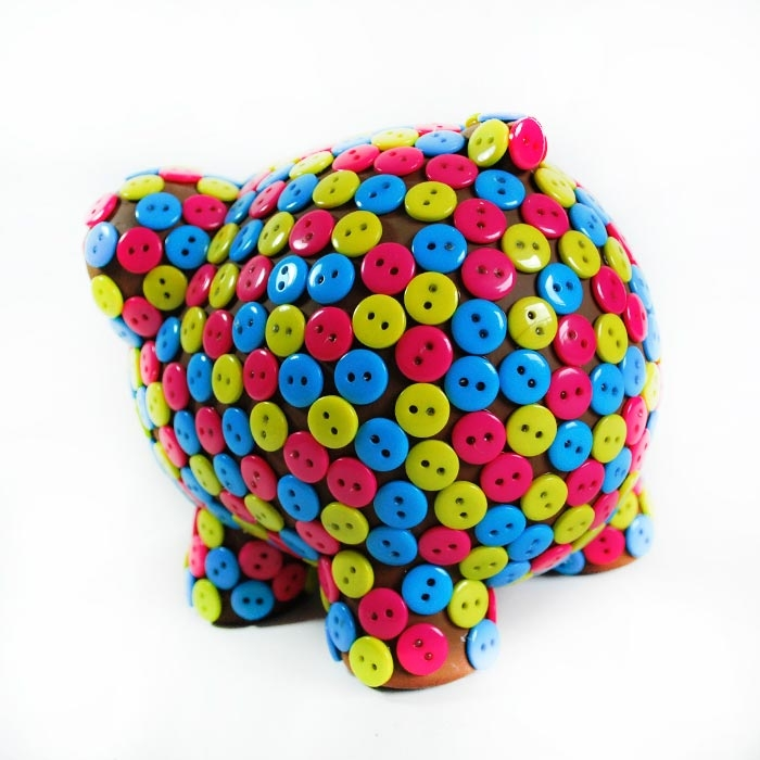 Alcancía Botones Multicolor / Oing Oing by Colorá