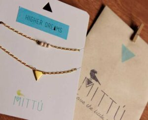 Collar Doble Triángulo Oro / Mittú