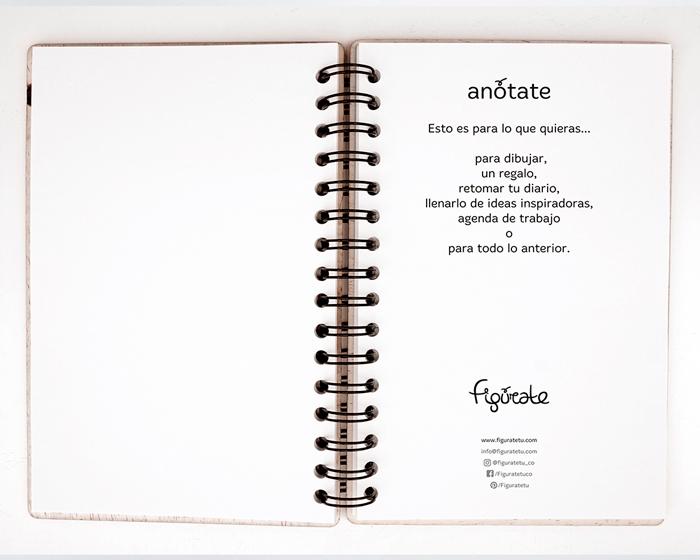 Cuaderno de Madera No sabía como ponerme / Figúrate